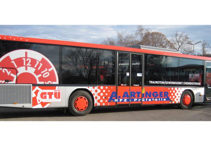 Artinger Buswerbung