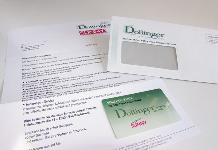 Dollinge Mailing Vorzugskarte