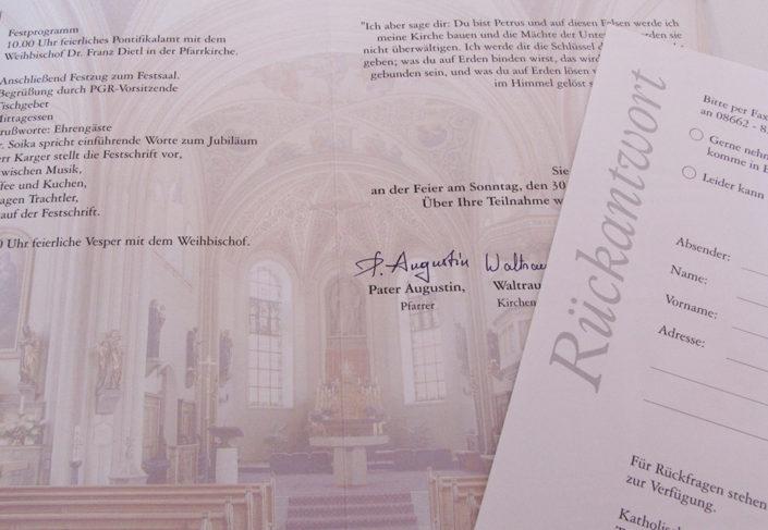 Pfarrei Bergen Persönliche Einladung 500-Jahr-Feier