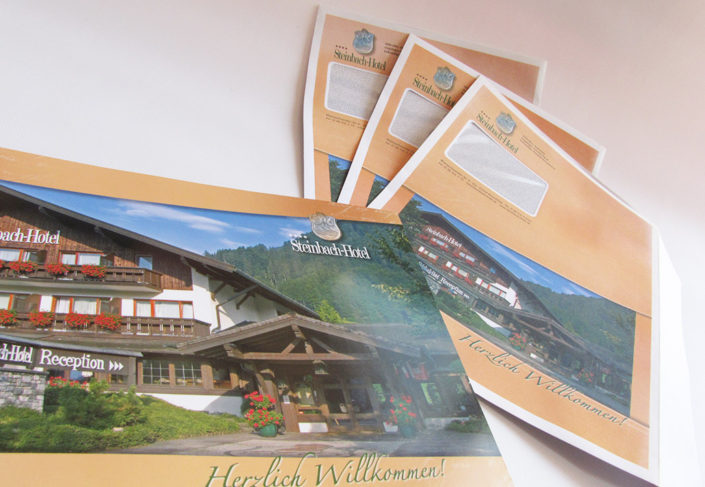 Steinbach Hotel Ruhpolding Hausprospekt Versandtasche
