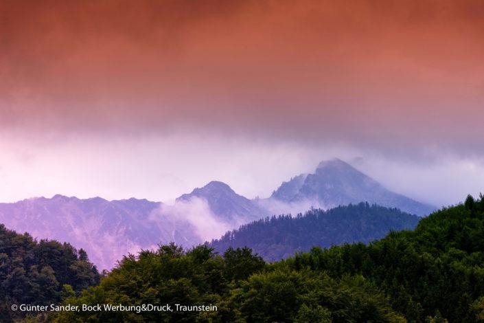 Berge Nebel